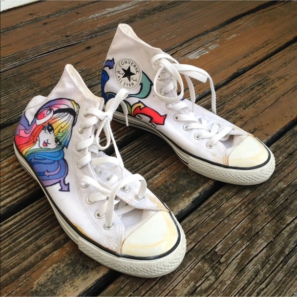 Converse All Star Anime Sneakers M 8 W 10 Rainbow